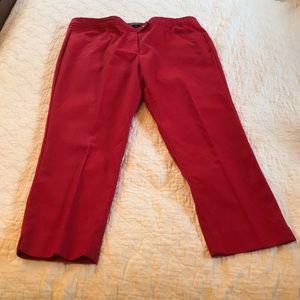 Talbots petite red Hampshire pants 12p